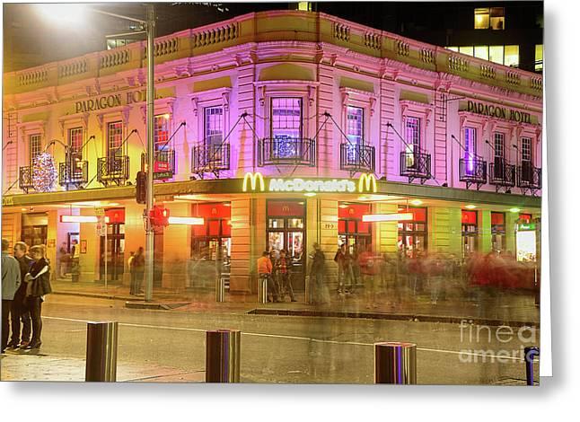Pretty Mcdonalds Vivid Sydney By Kaye Menner Greeting Card