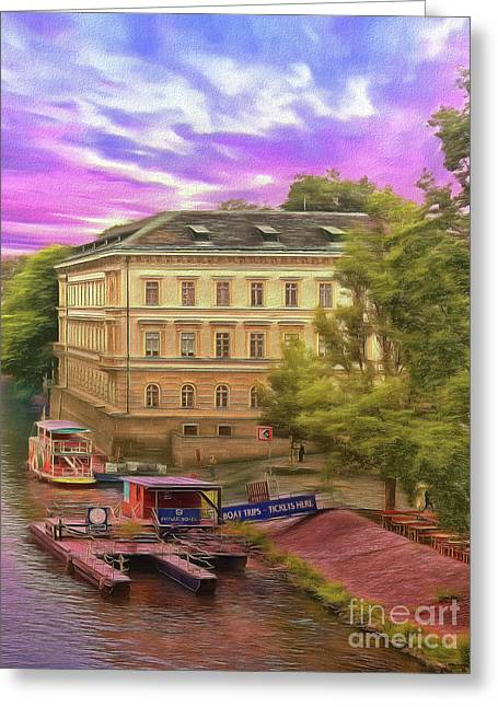 Pretty On The River - Prague Greeting Card