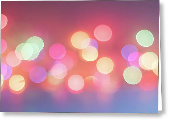Pretty Pastels Abstract Greeting Card by Terry DeLuco