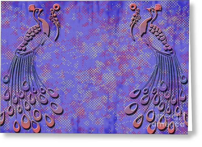 Pretty Peacock Greeting Card by Ankeeta Bansal