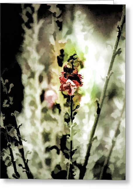 Pretty Perennial Greeting Card by Bonnie Bruno