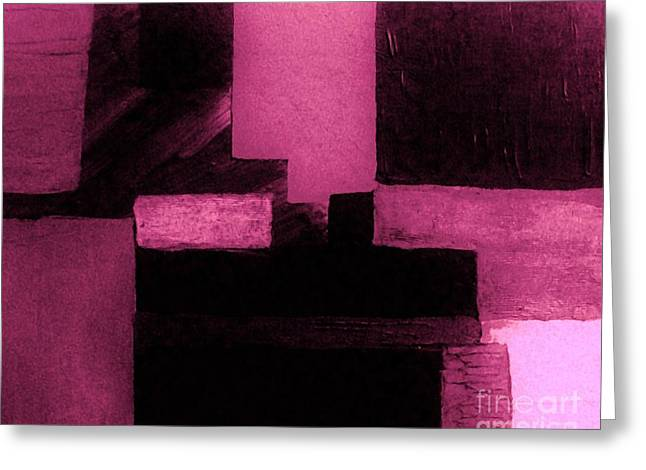 Pretty Pink Abstract Greeting Card by Marsha Heiken