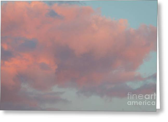 Greeting Card featuring the photograph Pretty Pink Clouds by Ana V Ramirez