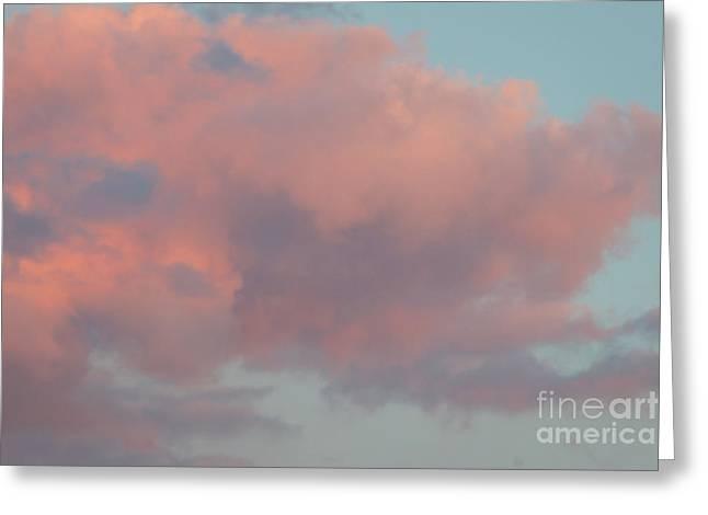 Pretty Pink Clouds Greeting Card by Ana V Ramirez
