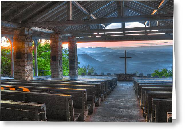 Pretty Place Chapel New Dawn Greeting Card by Reid Callaway