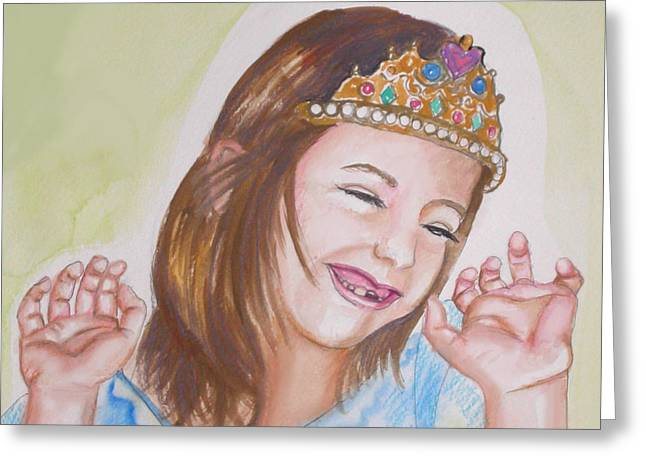 Missing Teeth Greeting Cards - Pretty Princess Greeting Card by Anne Cameron Cutri