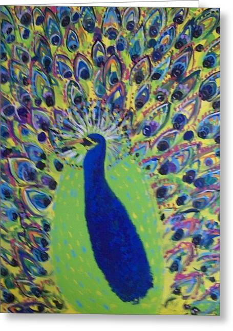 Pretty Proud Peacock Greeting Card by Seaux-N-Seau Soileau