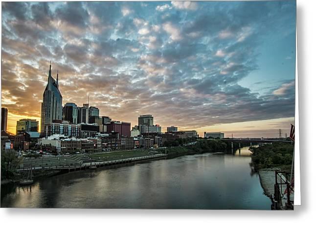 Pretty Sky And Nashville Skyline Greeting Card