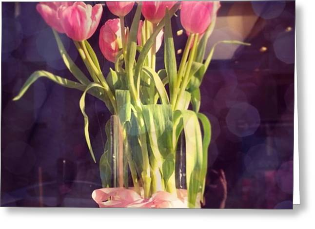 Pretty #tulip #flower #arrangement I Greeting Card