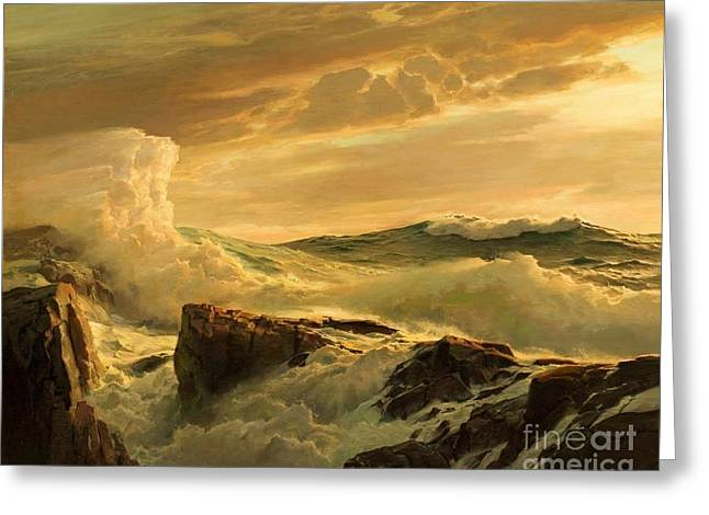 Prevailing Westerly Greeting Card by Pg Reproductions
