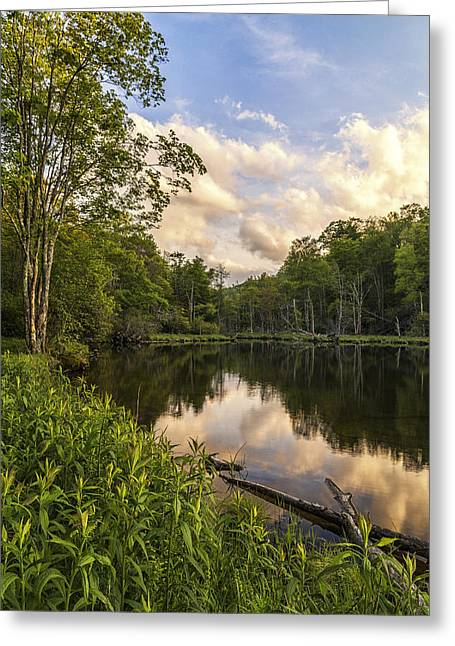 Price Lake Sunset - Blue Ridge Parkway Greeting Card