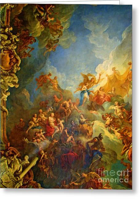 Priceless Art In Versailles Greeting Card by Al Bourassa