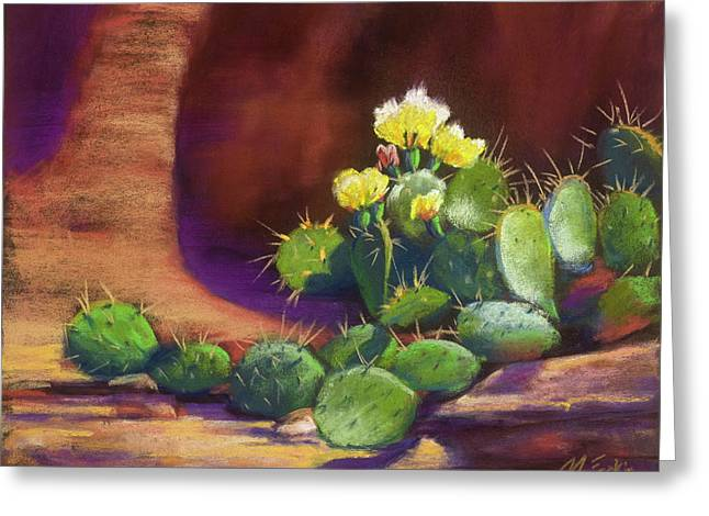 Pricklies On A Ledge Greeting Card
