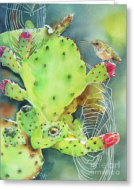Prickly Pair Greeting Card by Patricia Pushaw