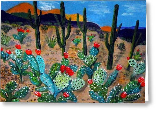 Prickly Pear Cactus Tucson Greeting Card