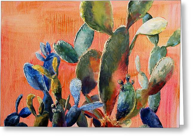 Prickly Pear Greeting Card by Lynee Sapere