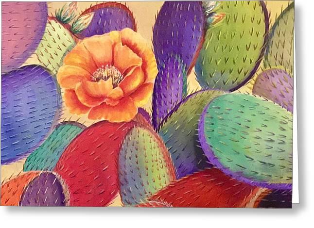 Prickly Rose Garden Greeting Card