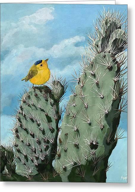 Prickly View - Wildlife Painting Greeting Card