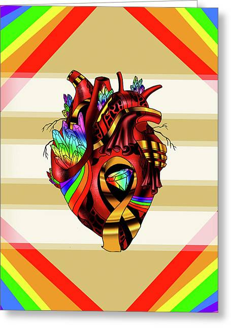 Pride Awareness Heart Greeting Card