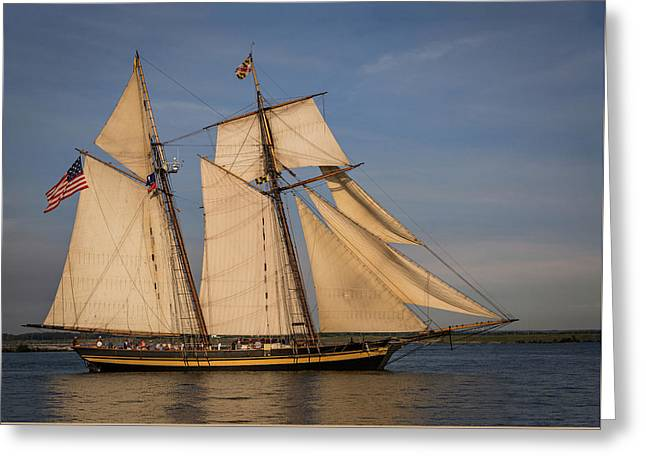 Pride Of Baltimore II Greeting Card by Dale Kincaid