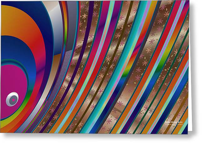 Greeting Card featuring the digital art Pride Waves 2101 by Brian Gryphon
