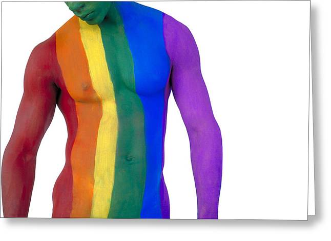 Pride4-3bp Greeting Card by Filippo Ioco