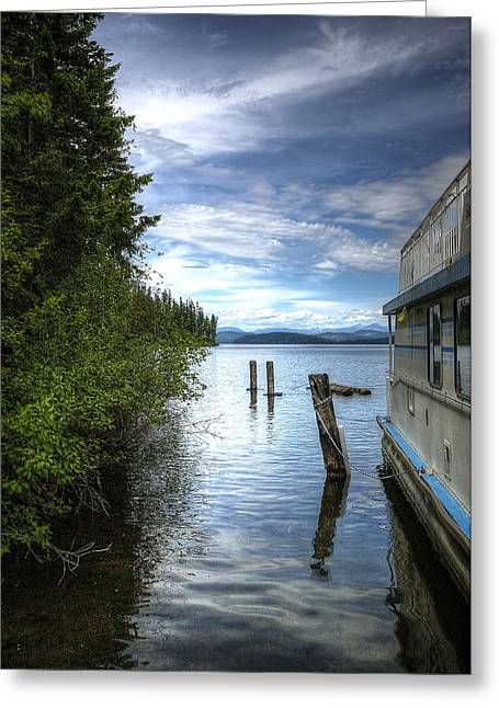 Priest Lake Houseboat 7001 Greeting Card