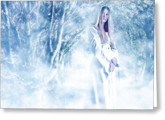 Priestess Greeting Card by John Edwards