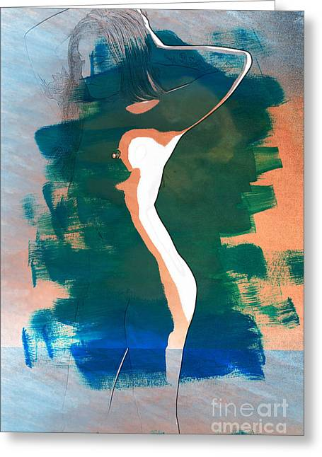 Primadonna Nude Fine Art Painting Print In Sensual Sexy 5274.03 Greeting Card by Kendree Miller