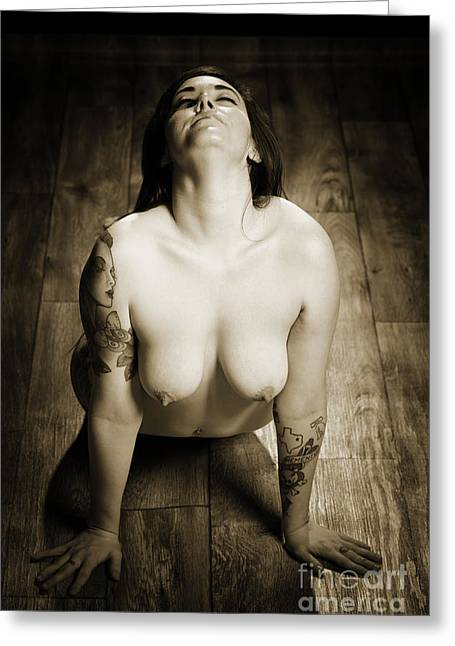 Primadonna Nude Fine Art Print In Sensual Sexy Photograph 5321.01 Greeting Card by Kendree Miller