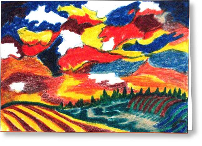 Primary Color Field Greeting Card