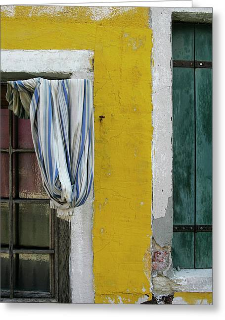 Primary Colours Of Burano Greeting Card