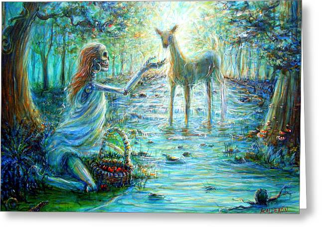 Greeting Card featuring the painting Primavera Forest Of New Life by Heather Calderon