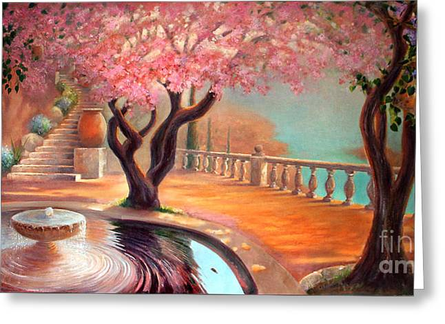 Greeting Card featuring the painting Primavera by Michael Rock