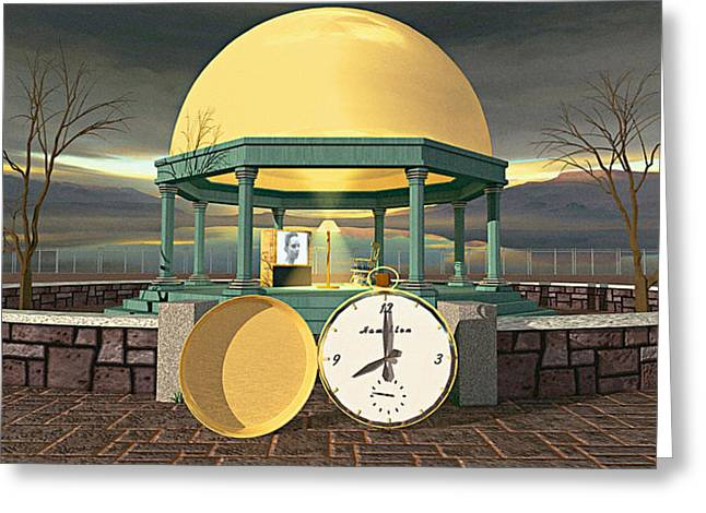 Prime Time Shrine Greeting Card by Peter J Sucy