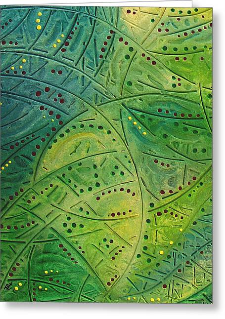 Primitive Abstract 2 By Rafi Talby Greeting Card by Rafi Talby