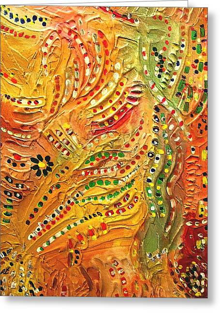 Primitive Abstract 3 By Rafi Talby Greeting Card by Rafi Talby