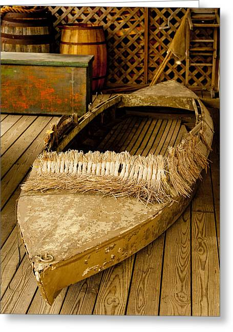 Primitive Duck Skiff Greeting Card