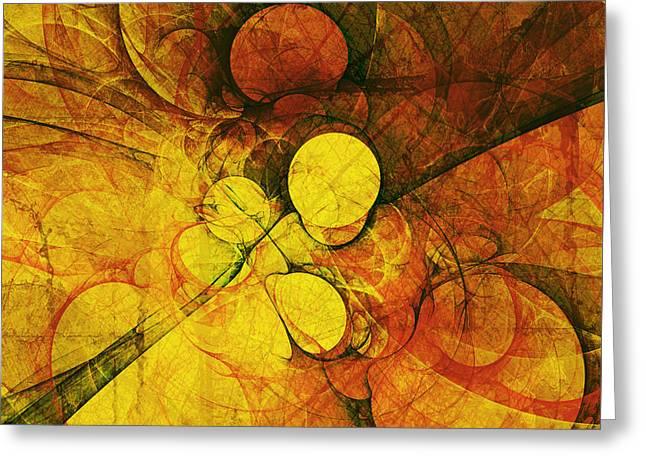 Primitive Earth Abstract Greeting Card by Georgiana Romanovna