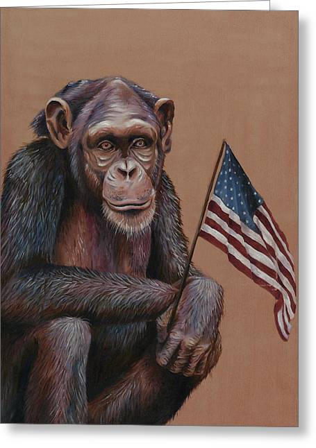 Primitive Patriotism Greeting Card