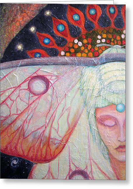 Primordial Cell Dreaming Greeting Card