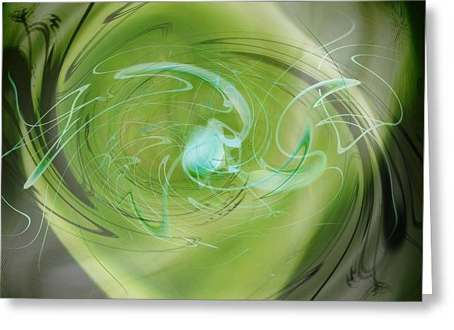 Primordial Soup Abstract Greeting Card