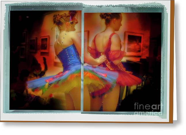 Greeting Card featuring the photograph Primping Ballerinas by Craig J Satterlee
