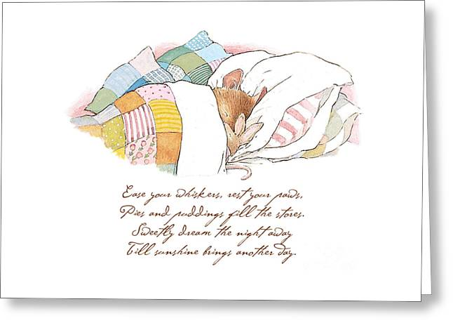 Primrose Goes To Sleep Greeting Card