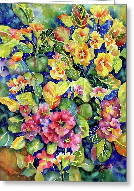 Primrose Patch I Greeting Card