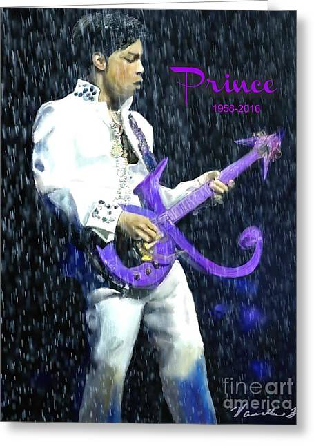 Prince 1958 - 2016 Greeting Card by Vannetta Ferguson