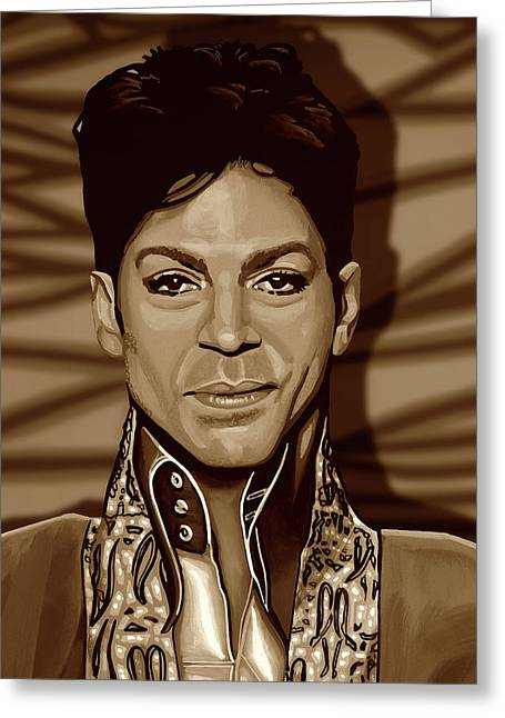 Prince 2 Gold Greeting Card