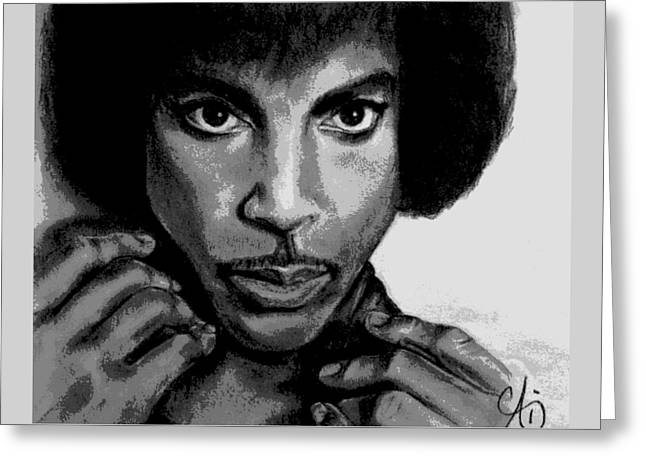 Prince Art - Pencil Drawing From Photography - Ai P. Nilson Greeting Card
