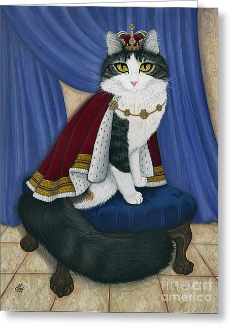 Prince Anakin The Two Legged Cat - Regal Royal Cat Greeting Card