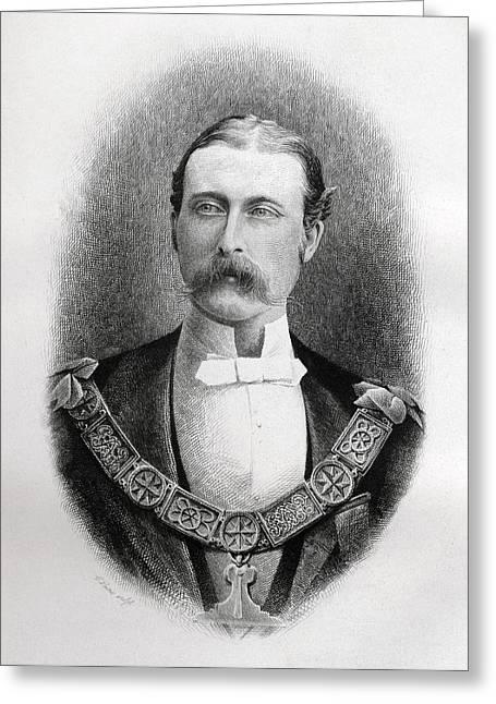 Prince Arthur William Patrick Duke Of Greeting Card
